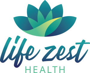 The Life Zest Health logo.